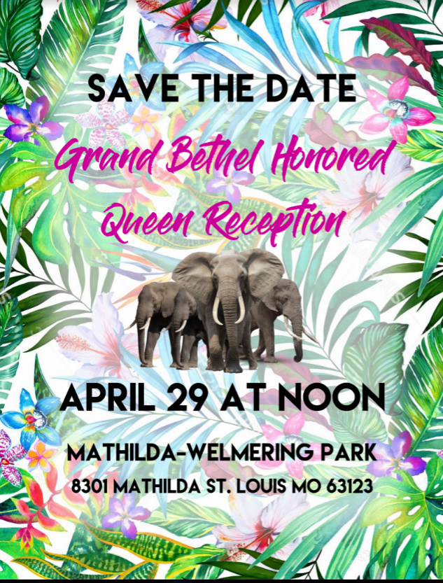 Reception for Grand Bethel Honored Queen @ Mathilda-Welmering Park | Affton | Missouri | United States