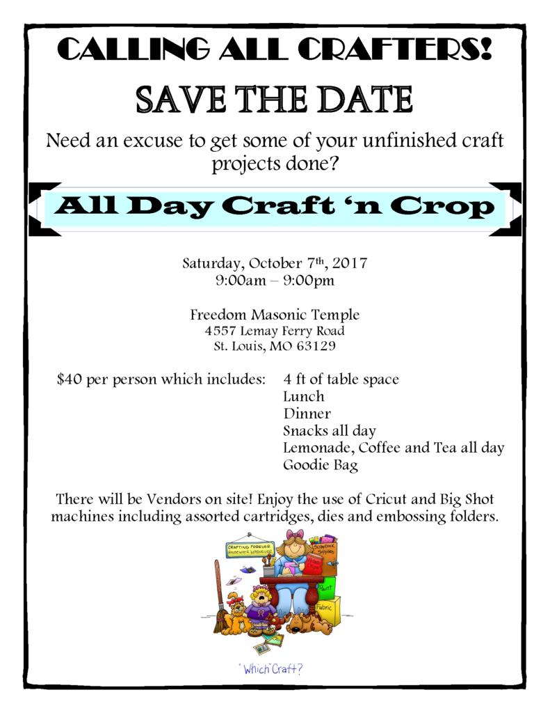 "Craft ""N"" Crop Fundraiser @ Freedom Masonic Temple | St. Louis | Missouri | United States"