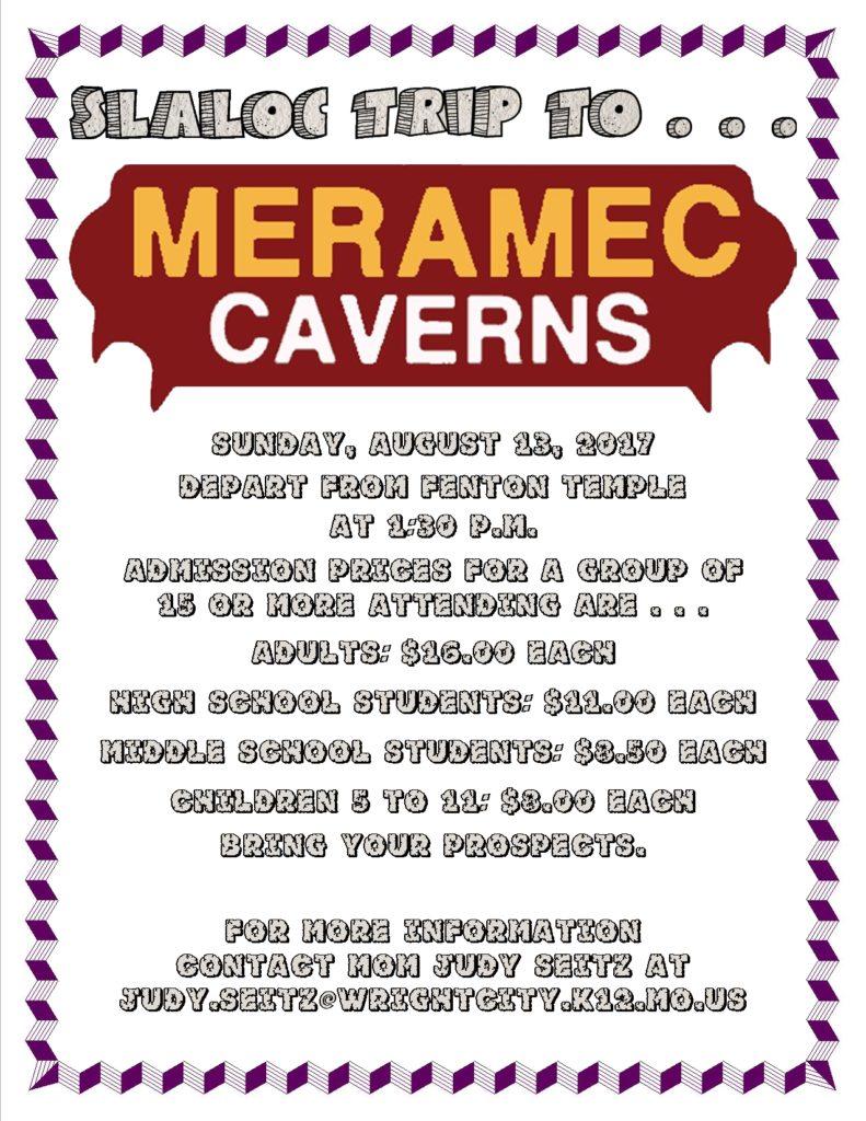 SLALOC Trip To Meramec Caverns @ Meramec Caverns | Sullivan | Missouri | United States