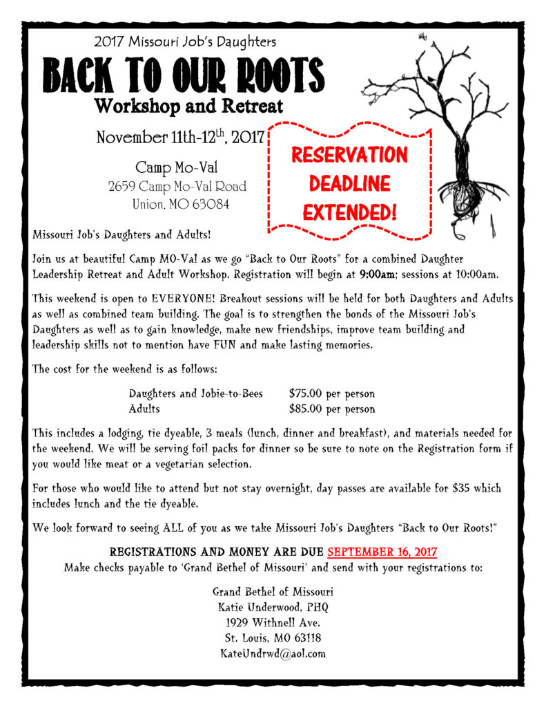 Back To Our Roots Workshop & Retreat @ Camp Mo-Val | Union | Missouri | United States