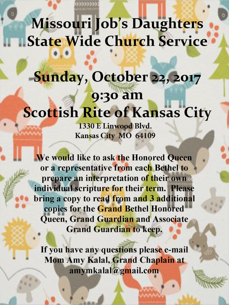 MJD Church Service @ Kansas City Scottish Rite | Kansas City | Missouri | United States