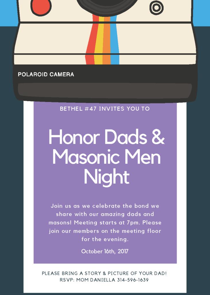 Bethel #47 Dads & Masons Night